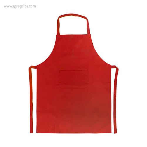 Delantal largo de algodón rojo - RG regalos publicitarios