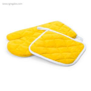 Guante y agarrador para horno amarillo- RG regalos publicitarios