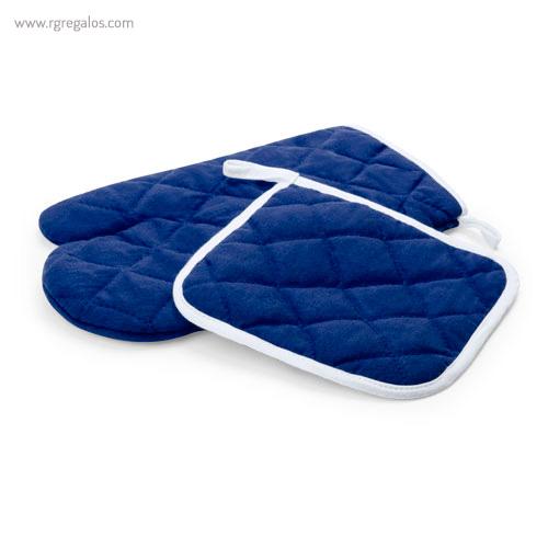 Guante y agarrador para horno azul - RG regalos publicitarios