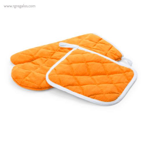 Guante y agarrador para horno naranja - RG regalos publicitarios