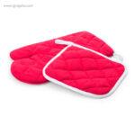 Guante y agarrador para horno rojo - RG regalos publicitarios