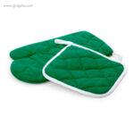 Guante y agarrador para horno verde - RG regalos publicitarios