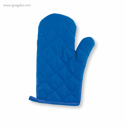 Guantes para horno en algodón azul - RG regalos publicitarios