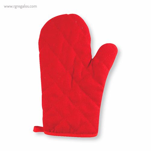 Guantes para horno en algodón rojo - RG regalos publicitarios