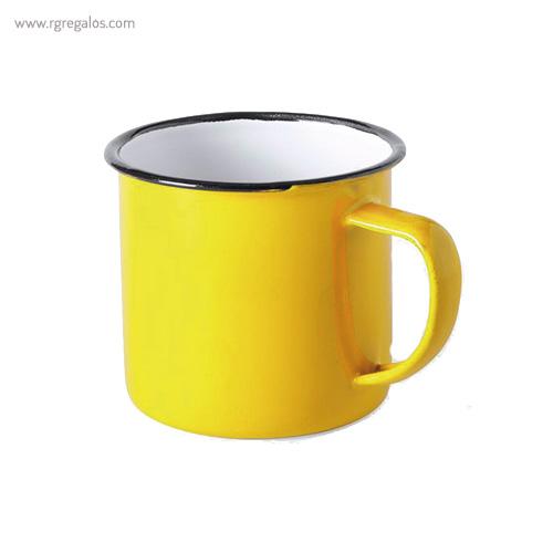 Taza metálica estilo vintage amarillo - RG regalos publicitarios