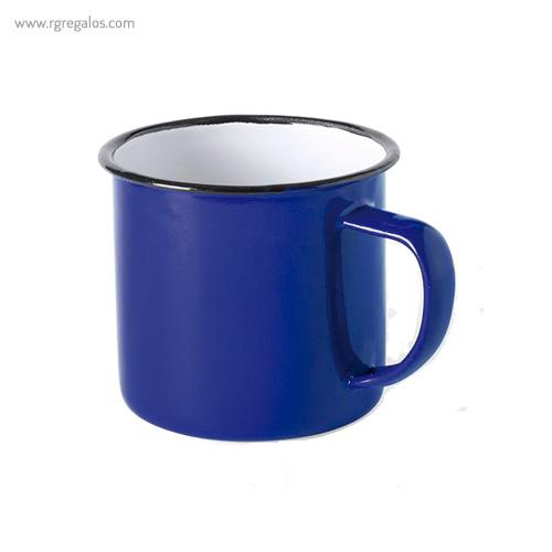Taza metálica estilo vintage azul - RG regalos publicitarios