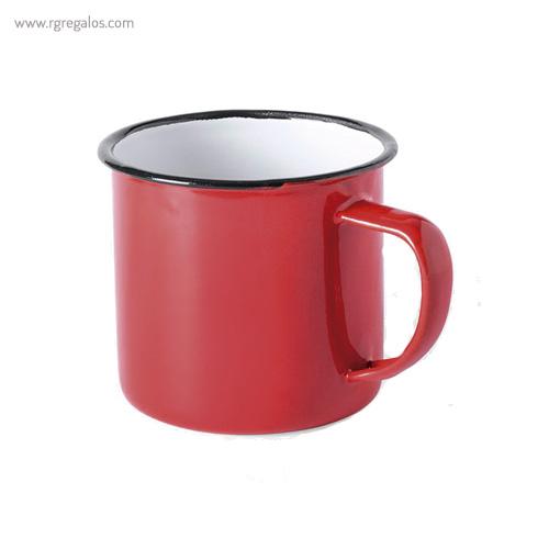 Taza metálica estilo vintage rojo - RG regalos publicitarios