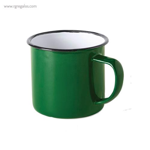 Taza metálica estilo vintage verde - RG regalos publicitarios