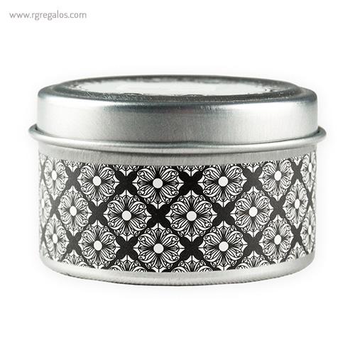 Vela aromática caja metal negra - RG regalos publicitario