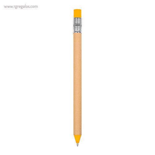 Bolígrafo en papel y cartón amarillo - RG regalos publicitarios