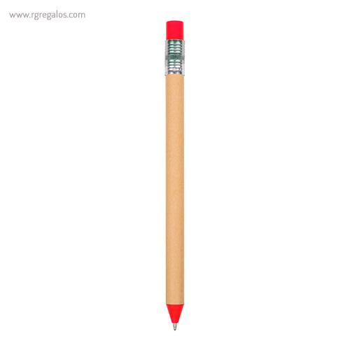 Bolígrafo-en-papel-y-cartón-rojo-RG-regalos-publicitarios