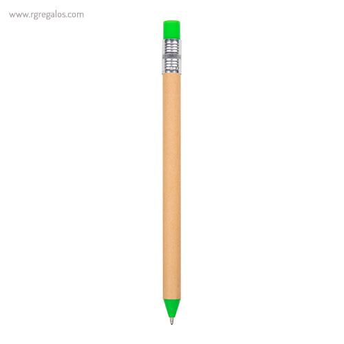 Bolígrafo-en-papel-y-cartón-verde-RG-regalos-publicitarios