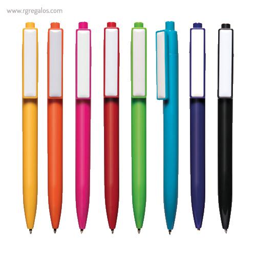 Bolígrafo plástico cierre pulsador - RG regalos publicitarios