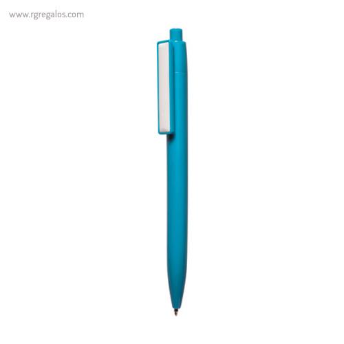 Bolígrafo plástico cierre pulsador azul - RG regalos publicitarios