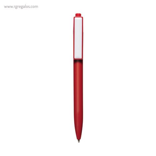 Bolígrafo plástico cierre pulsador rojo - RG regalos publicitarios