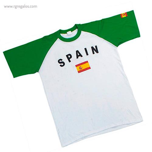 Camiseta bandera países España - RG regalos publicitarios