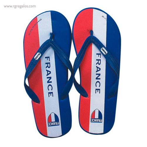 Chanclas de playa países Francia - RG regalos publicitarios