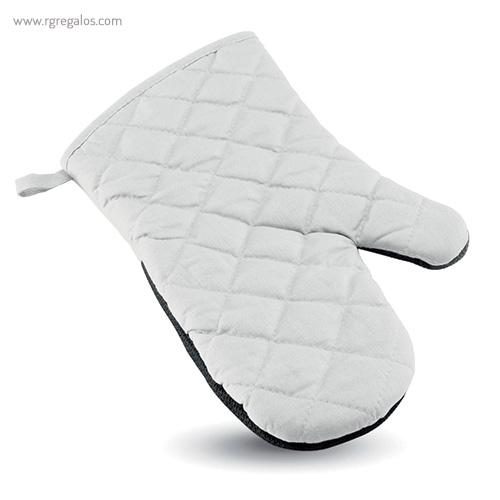 Manopla de cocina algodón y goma blanco- RG regalos personalizados