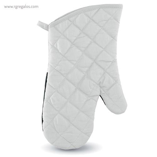 Manopla de cocina algodón y goma blanco - RG regalos publicitarios
