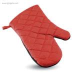 Manopla de cocina algodón y goma rojo - RG regalos personalizados