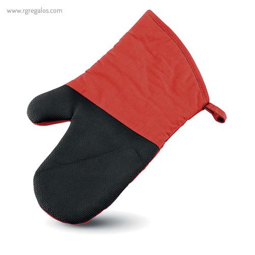 Manopla de cocina algodón y goma rojo - RG regalos promocionales