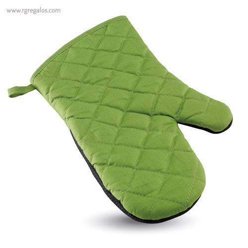 Manopla de cocina algodón y goma verde - RG regalos publicitarios