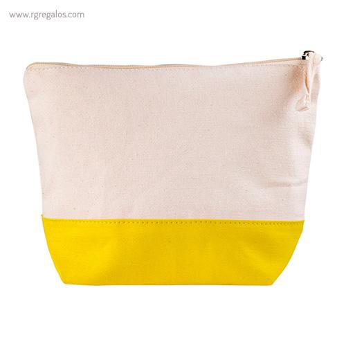 Neceser combi en algodón amarillo - RG regalos publicitarios