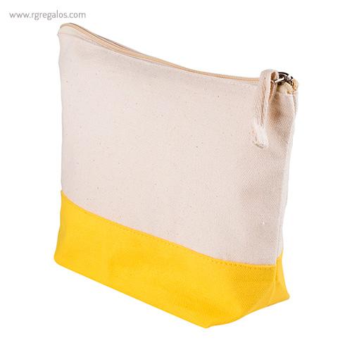 Neceser combi en algodón amarillo detalle - RG regalos publicitarios