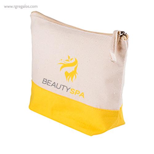 Neceser combi en algodón amarillo logo - RG regalos publicitarios