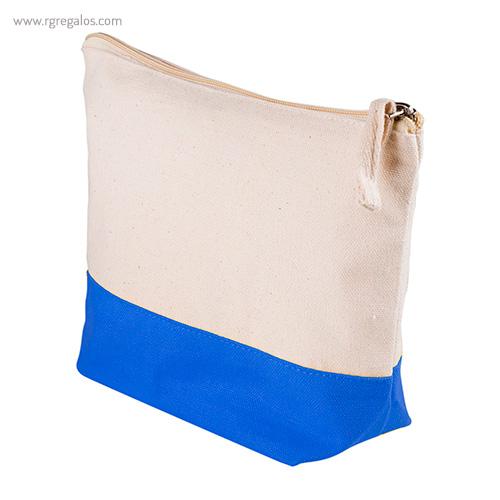Neceser combi en algodón azul detalle - RG regalos publicitarios