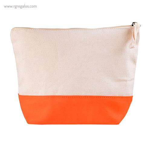 Neceser combi en algodón naranja - RG regalos publicitarios
