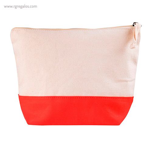 Neceser combi en algodón rojo - RG regalos publicitarios