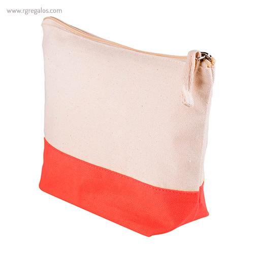 Neceser combi en algodón rojo detalle - RG regalos publicitarios