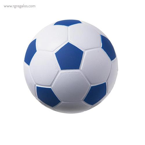 Pelota fútbol antiestrés azul - RG regalos publicitarios