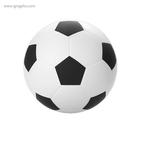 Pelota fútbol antiestrés negro - RG regalos publicitarios