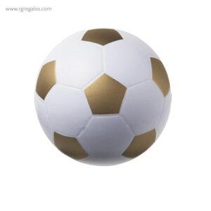Pelota fútbol antiestrés oro - RG regalos publicitarios