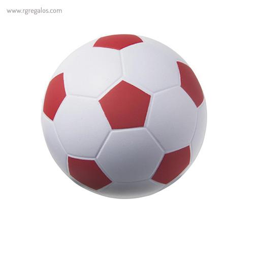 Pelota fútbol antiestrés rojo - RG regalos publicitarios