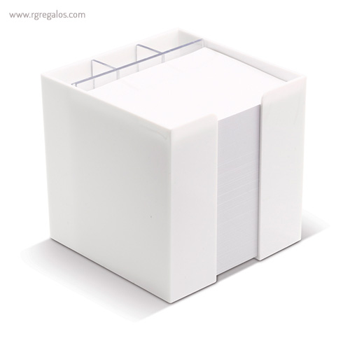 Taco de notas con cubo 3 compartimentos - RG regalos publicitarios