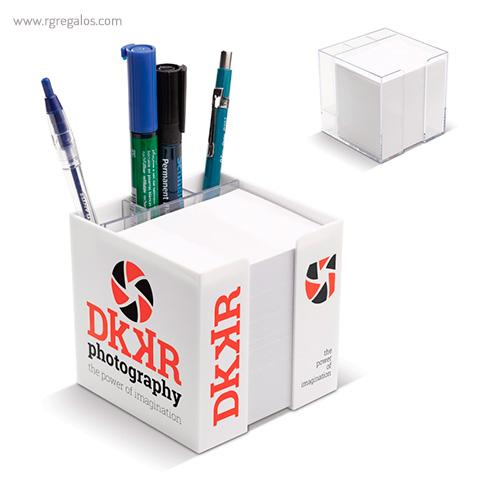 Taco de notas con cubo compartimentos - RG regalos publicitarios