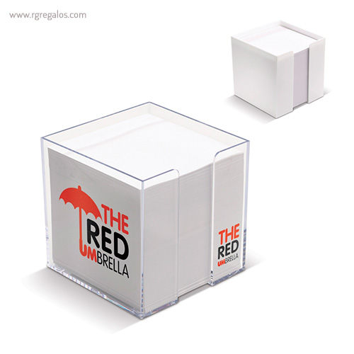 Taco de notas con cubo sencillo - RG regalos publicitarios