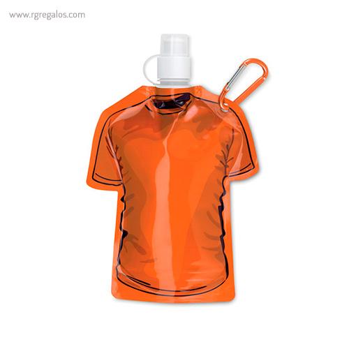 Botellín forma camiseta naranja - RG regalos publicitarios