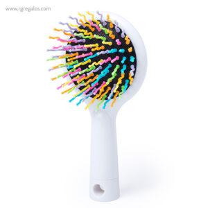 Cepillo de púas con espejo blanco - RG regalos publicitarios