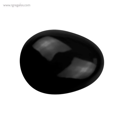 Cepillo pelo forma de gota negro vista - RG regalos publicitarios