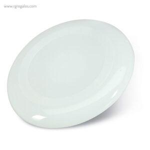 Disco volador plástico blanco - RG regalos publicitarios