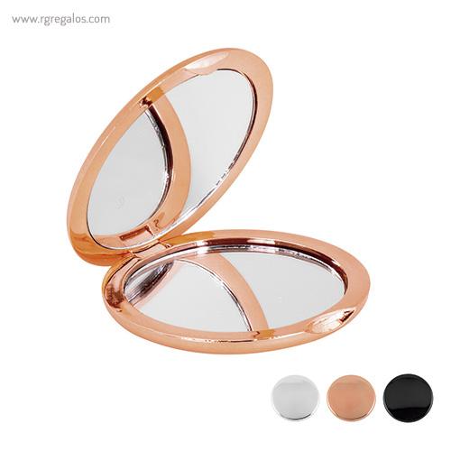Espejo redondo metalizado - RG regalos promocionales