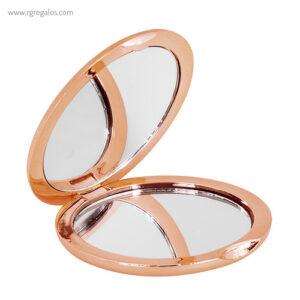 Espejo redondo metalizado rosado - RG regalos publicitarios