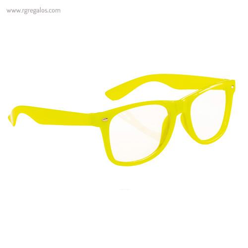 Gafas con lentes transparente amarillas - RG regalos publicitarios