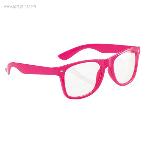 Gafas con lentes transparente fucsia - RG regalos publicitarios