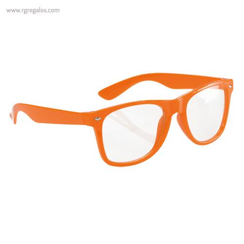 Gafas con lentes transparente naranja - RG regalos publicitarios