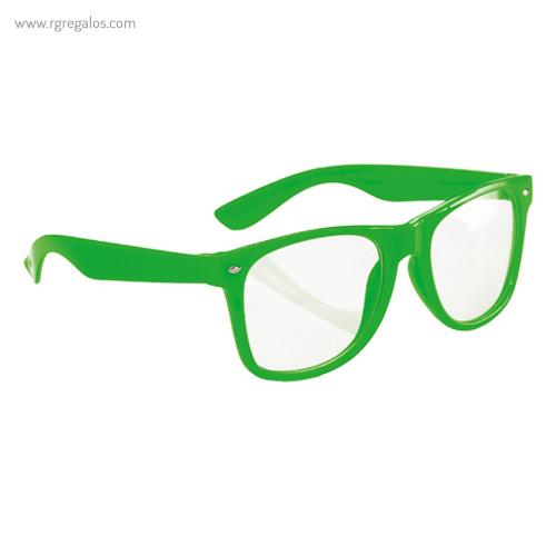 Gafas con lentes transparente verdes - RG regalos publicitarios